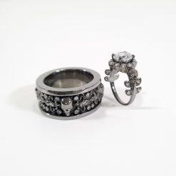 GOTHIC WEDDING RING SET