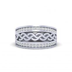 WHITE DIAMOND WEDDING BAND
