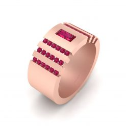 RUBY ENGAGEMENT BAND FOR HER