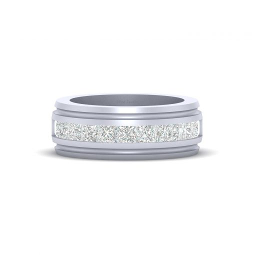 PRINCESS DIAMOND WEDDING BAND